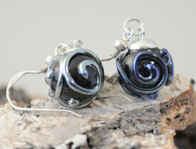 Ohrhänger aus Glas